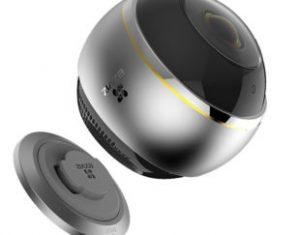 EZVIZ PANO 3MPκαι ενσωματωμένο αμφίδρομο ήχο και θέαση 360 μοιρών.
