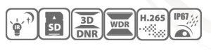 σταθερού φακού 2.8mm