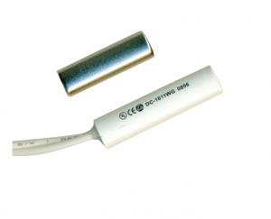 ALEPH ενσύρματη χωνευτή μαγνητική επαφή χρώματος λευκό Φ5.